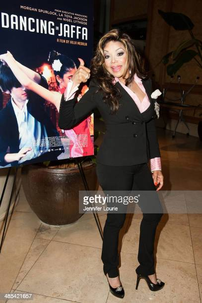 La Toya Jackson attends the 'Dancing In Jaffa' Los Angeles Screening hosted at the ICM Screening Room on April 17 2014 in Century City California