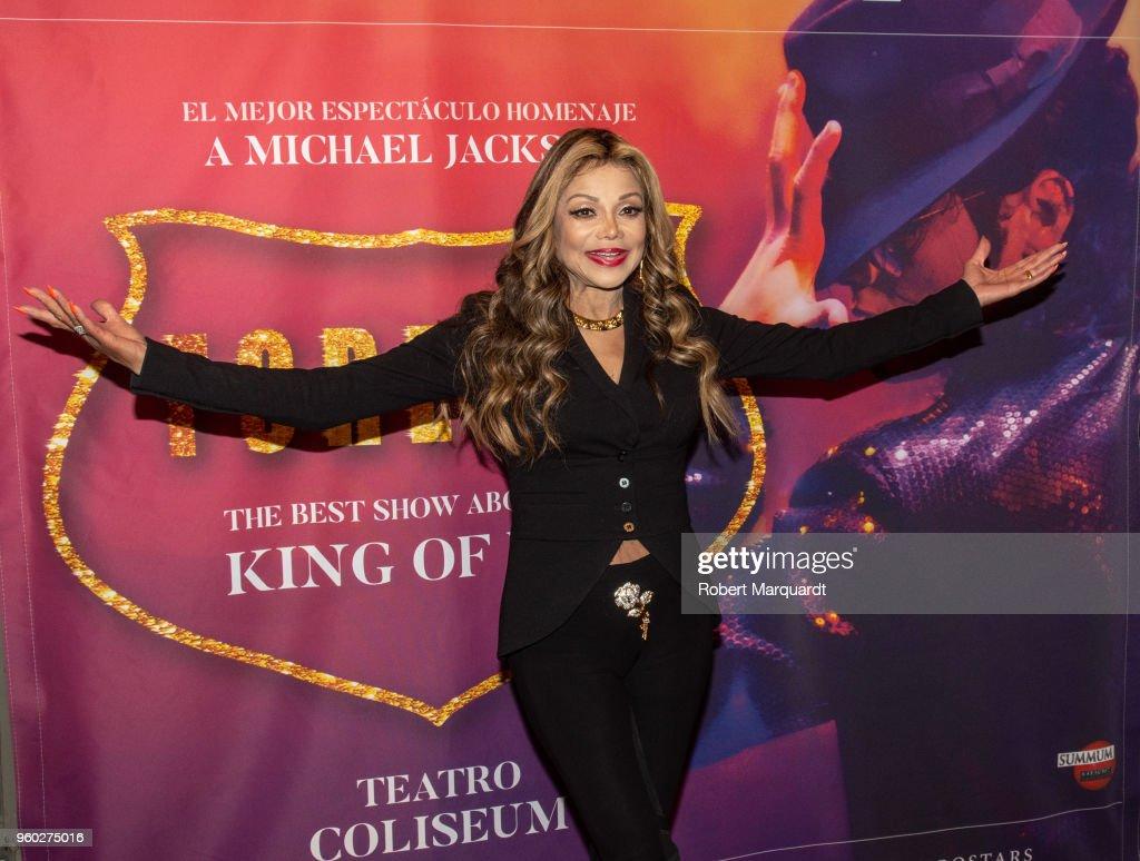 La Toya Jackson Attends 'Forever' Show in Barcelona