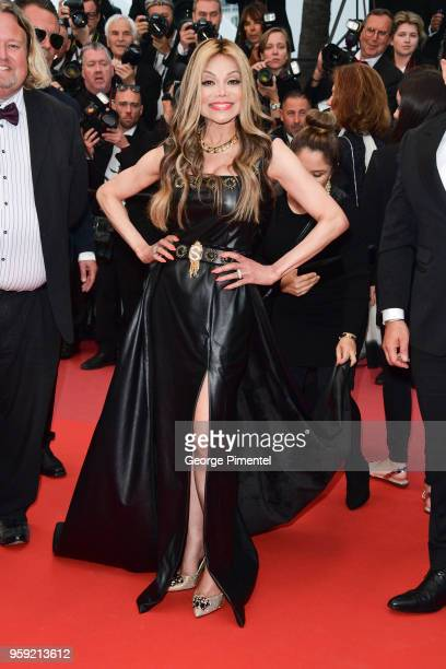La Toya Jackson attends the screening of 'Burning' during the 71st annual Cannes Film Festival at Palais des Festivals on May 16 2018 in Cannes France