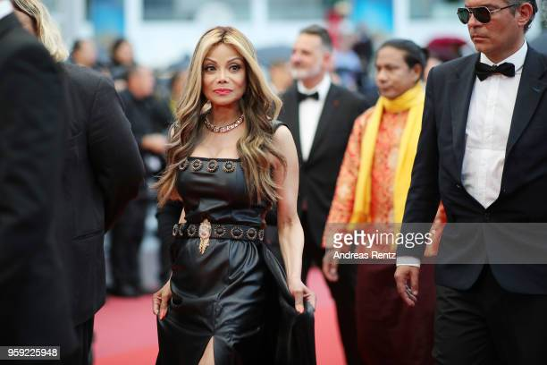 La Toya Jackson attends the screening of Burning during the 71st annual Cannes Film Festival at Palais des Festivals on May 16 2018 in Cannes France