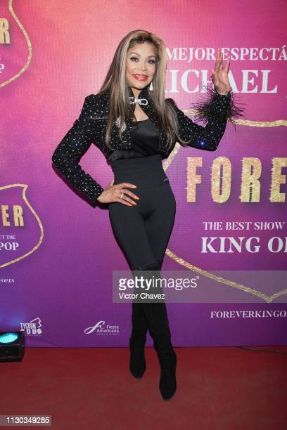 La Toya Jackson attends the show Forever The Best Show About The King of Pop at Centro Cultural Teatro 1 on March 13 2019 in Mexico City Mexico