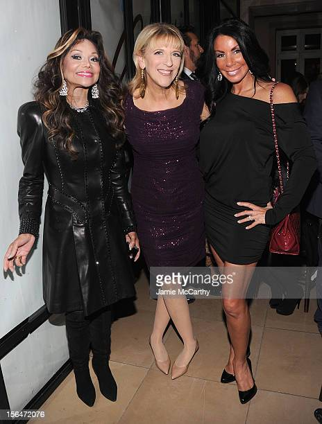 La Toya Jackson Lisa Lampanelli and Danielle Staub attend Henri Bendel holiday window unveiling 2012 at Henri Bendel on November 15 2012 in New York...