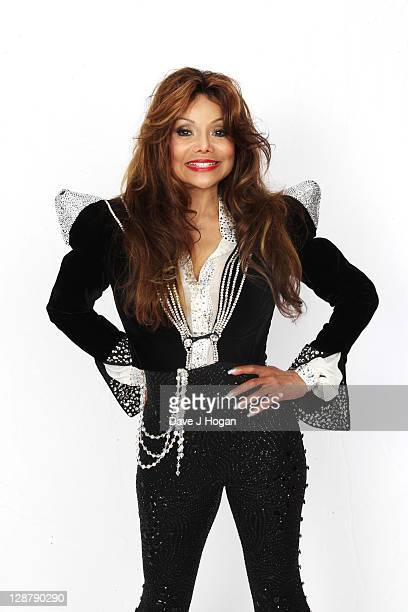 La Toya Jackson poses for a portrait backstage at the 'Michael Forever' concert to remember the late Michael Jackson at The Millenium Stadium on...