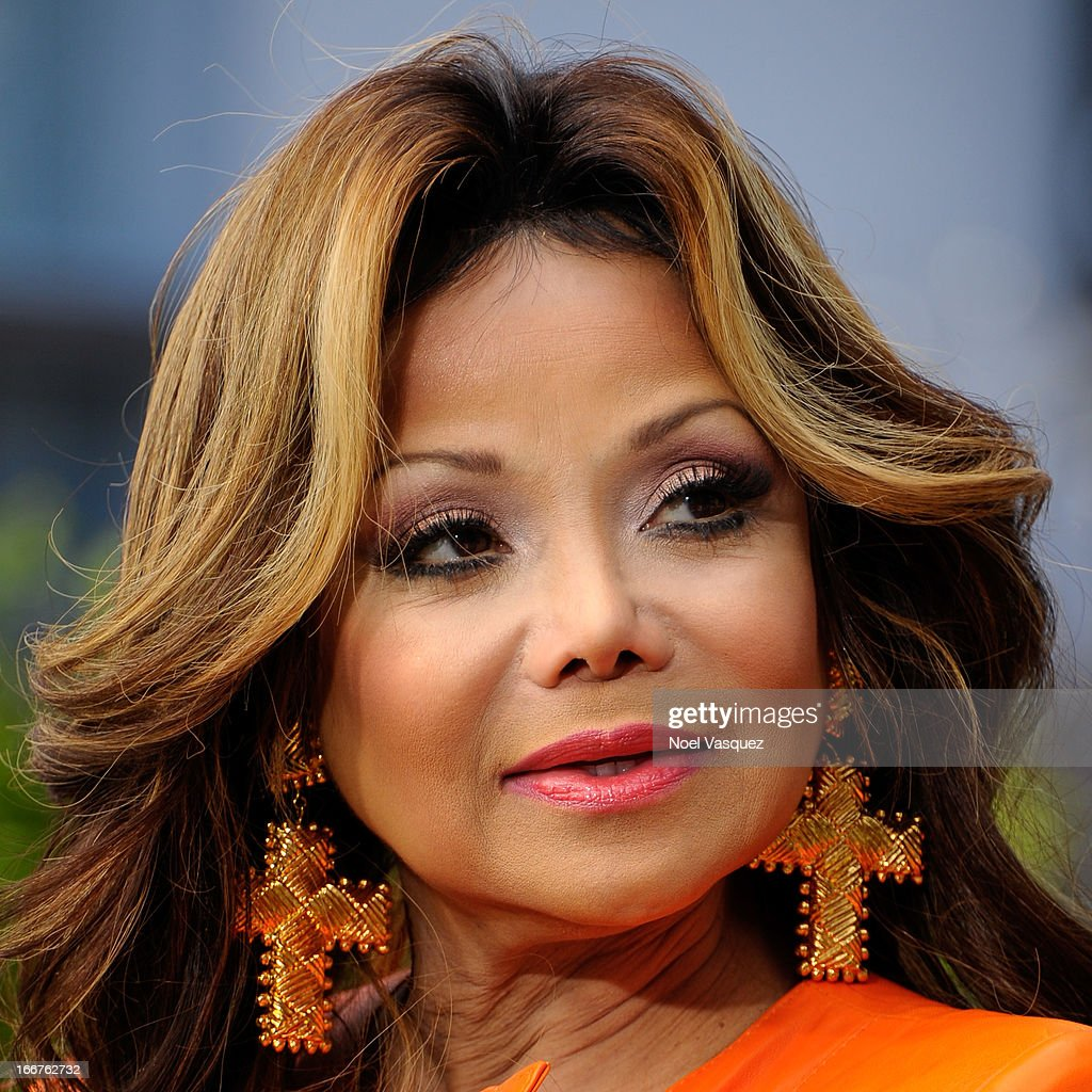 La Toya Jackson visits 'Extra' at The Grove on April 16, 2013 in Los Angeles, California.