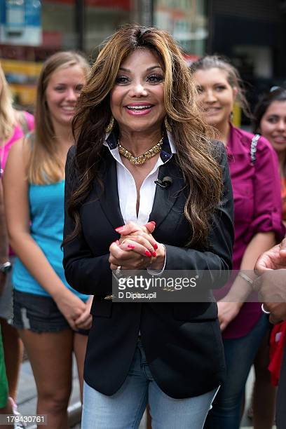 La Toya Jackson visits 'Extra' in Times Square on September 3 2013 in New York City