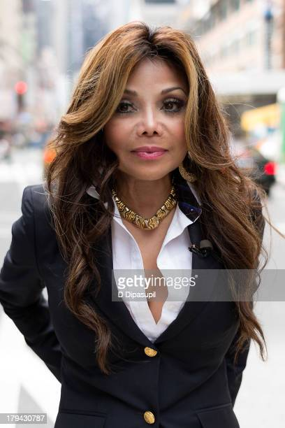 La Toya Jackson visits Extra in Times Square on September 3 2013 in New York City