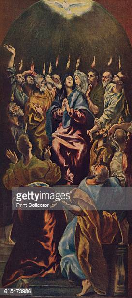 La Venida Del Espiritu Santo' 15141519 From the altarpiece of Saint Lazarus of Palencia the Virgin Mary Mary Magdalene and the Apostles appear with...