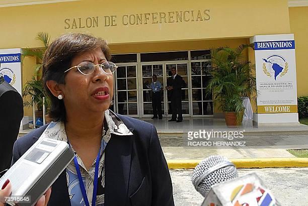 La vice canciller de Republica Dominicana Alejandra Liriano conversa con la prensa para explicar la agenda de trabajo de XIII Reunion Ministerial del...