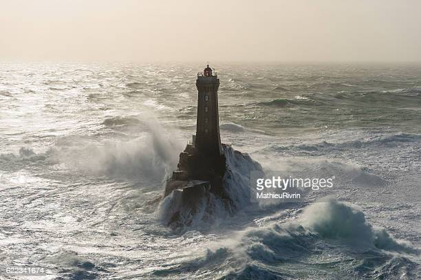 La Vieille lighthouse against the waves