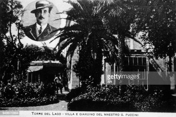 La villa et jardin de Giacomo Puccini à Torre del Lago, Italie.