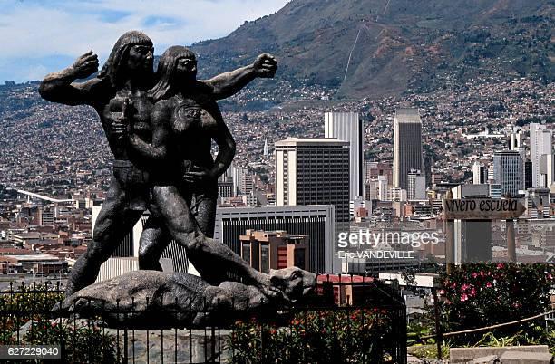 La ville de Medellin en septembre 1989 Colombie