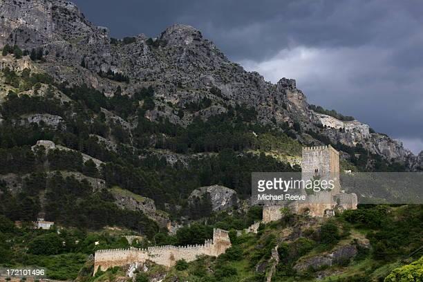 La Yedra, a Moorish castle tower stands over the city of Cazorla.