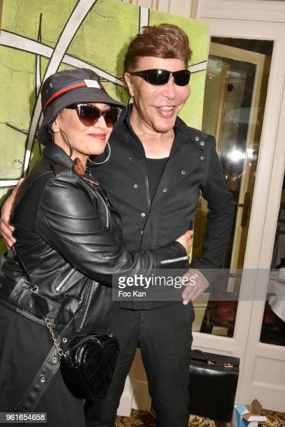 Laam and Grichka Bogdanoff attend Citestars Press Conference at Hotel Saint Petersbourg on May 22 2018 in Paris France
