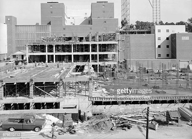 Lab additions E D under construction at the Roybal Campus Clifton Road in 1964 Animal addition E foreground Lab addition D background Labs added four...