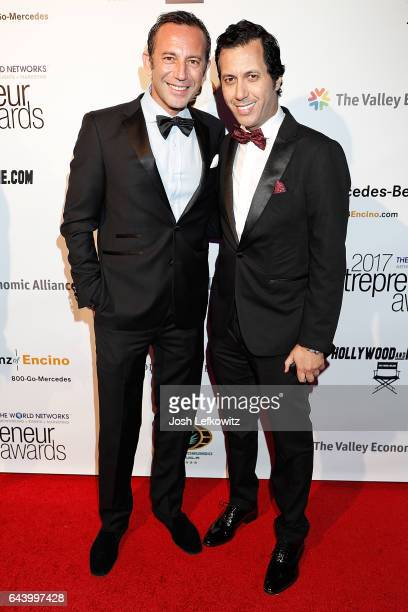 Lab Art Honoree Iskander Lemseffer and Simo Benbachir attend the 2017 Entrepreneur Awards at Allure Events And Catering on February 22 2017 in Van...