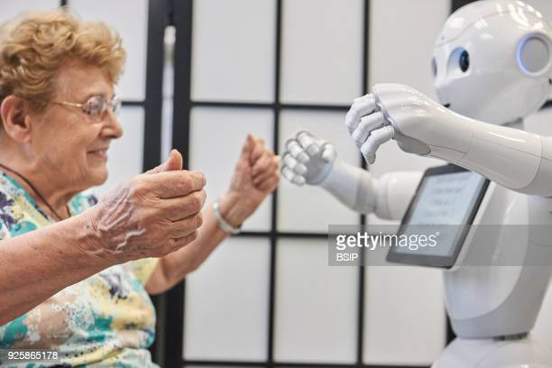 Lab at Inserm which studies cognitive sciences and robothuman communication The team works with two robots With Pepper research is oriented to its...