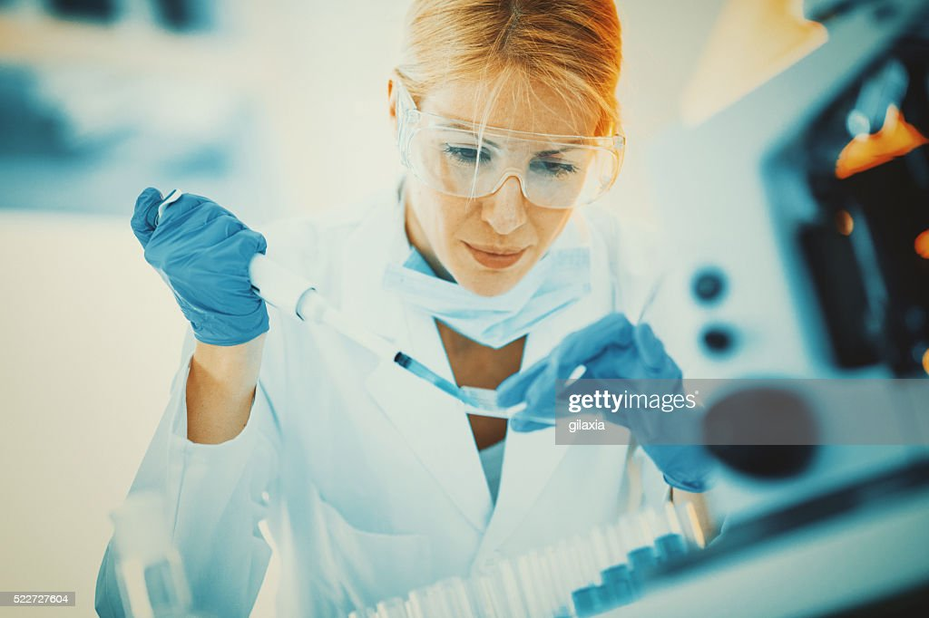 Lab research procedure. : Stockfoto