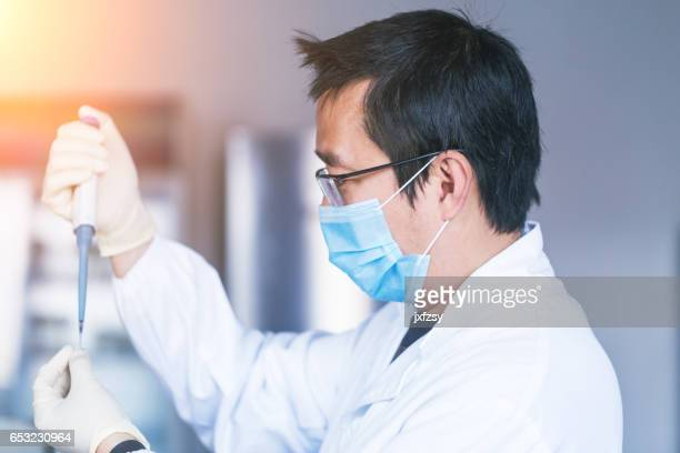 lab researcher working in the lab