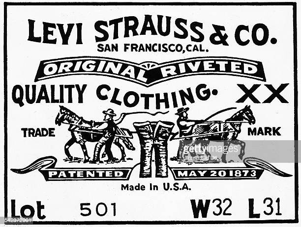 LEVI STRAUSS LABEL 1974 Label for Levi Strauss Jeans 1974