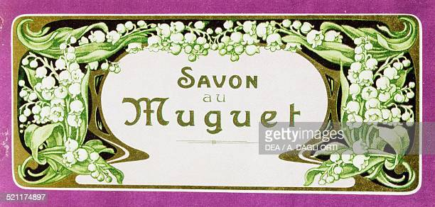 Label for lily of the valley soap bars ca 1915 France 20th century France