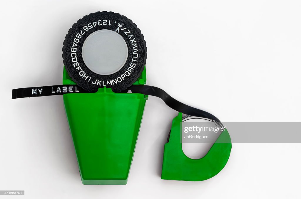 Label Maker 04-Green : Stock Photo
