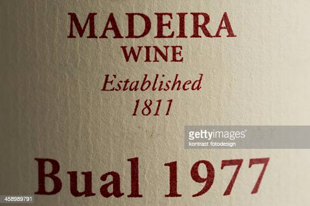 Label of a Madeira wine bottle from 1977