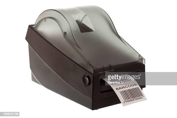 Label printer printing a barcode