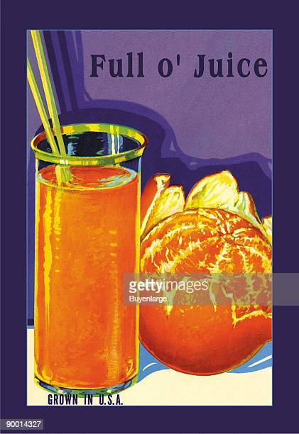 A label promoting oranges so perfect that eating one is the same sensation as a tall cool glass of orange juice Vegetable and Fruit crate labels were...