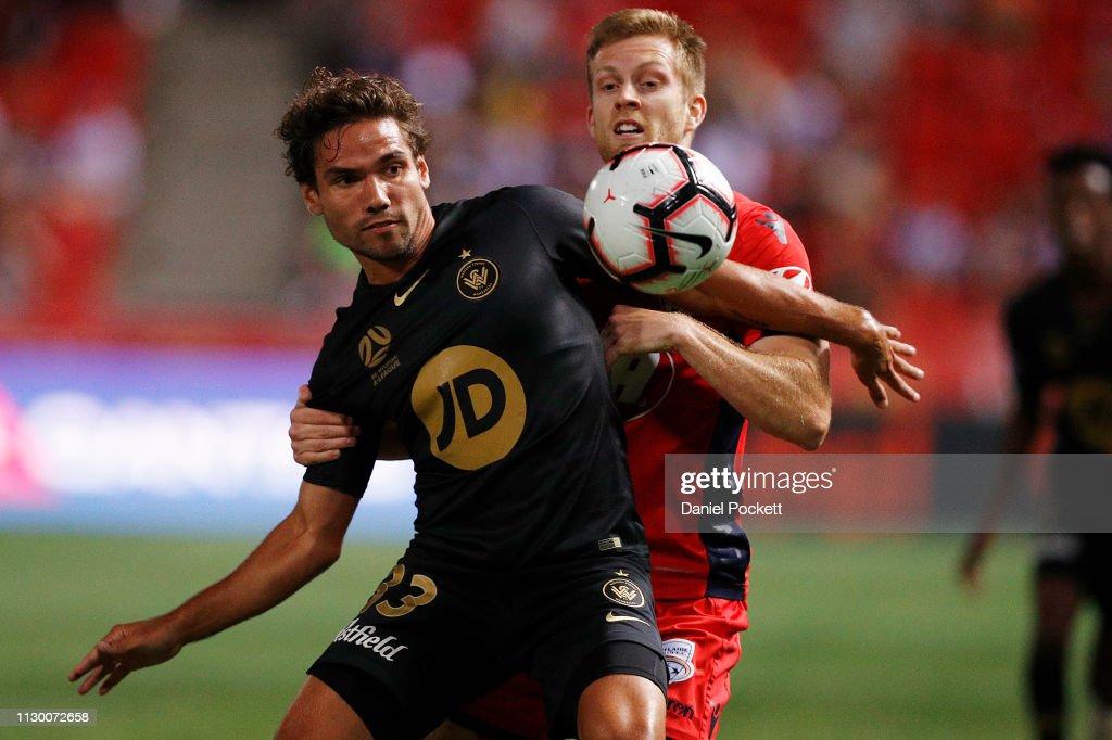 A-League Rd 19 - Adelaide v Western Sydney : News Photo
