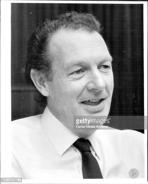 Labor Council President John MacBean in his city office April 30 1987