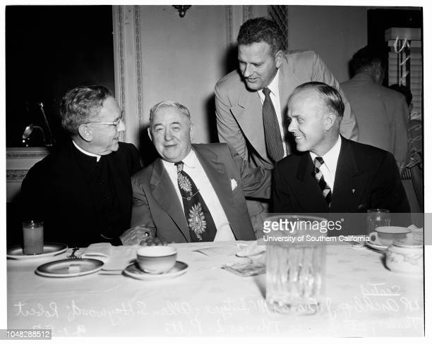 Labor Day Mass 1 September 1952 Archbishop J Francis A McIntyreAllan S Haywood Executive Vice President Congress of Industrial Organizations Robert...