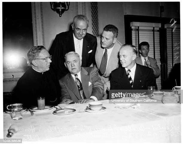 Labor Day Mass 1 September 1952 Archbishop J Francis A McIntyreAllan S Haywood Executive Vice President Congress of Industrial Organizations Robert...