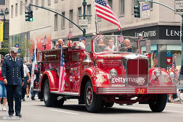 labor day parade in manhattan - labor day stock pictures, royalty-free photos & images