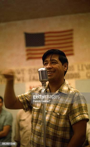 Labor Leader Cesar Chavez Speaking