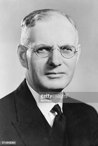 Labor Leader Who May be Australia's New Premier Canberra Australia John Curtin 56yearold leader of the opposition in the Commonwealth Parliament...