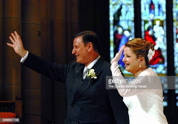 Labor MP and speaker of the house John Aquilina marries Anne Moran in St Mary's cathederal 12 May 2006 SMH Picture by ADAM HOLLINGWORTH