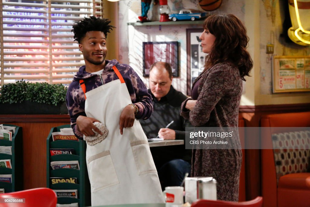 'Labor Pains' -- Faced with art school expenses, Franco gives Sweatpants a choice: Find a job to help pay their rent or find a new place to live. Also, Tush and Fawz go to great lengths to help Randy build a social media presence that will inspire envy in her ex, on SUPERIOR DONUTS, Monday, Jan. 22 (9:00-9:30 PM, ET/PT), on the CBS Television Network. Pictured L-R: Jermaine Fowler as Franco and Katey Sagal as Randy