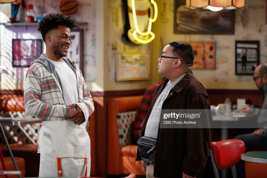 'Labor Pains' -- Faced with art school expenses, Franco gives Sweatpants a choice: Find a job to help pay their rent or find a new place to live. Also, Tush and Fawz go to great lengths to help Randy build a social media presence that will inspire envy in her ex, on SUPERIOR DONUTS, Monday, Jan. 22 (9:00-9:30 PM, ET/PT), on the CBS Television Network. Pictured L-R: Jermaine Fowler as Franco and Reggie De Leon as Zale