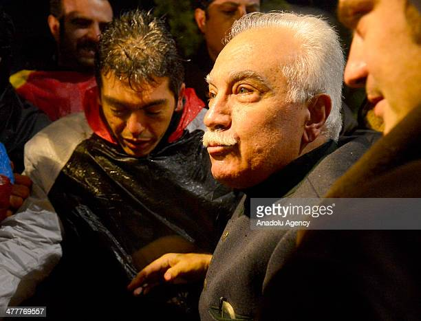 Labor Party leader Dogu Perincek, detainee in the Ergenekon coup plot case released from Silivri Prison in Istanbul following the 8th and the 21th...