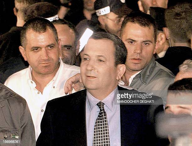 Labor Party leader Ehud Barak arrives in Beer Sheva, near Tel Aviv, 17 May 1999, after he won election as Israel's next prime minister defeating...