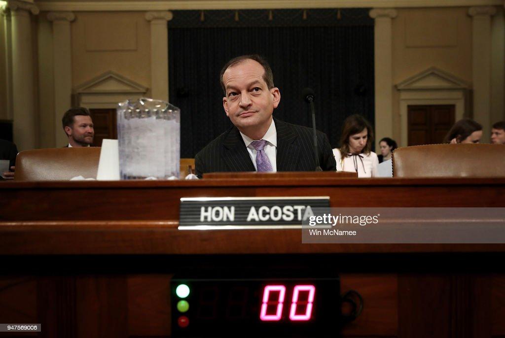 Labor Secretary Alexander Acosta Testifies At House Hearing On Jobs Gap : News Photo