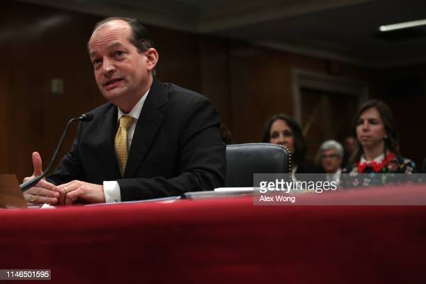 S Labor Secretary Alexander Acosta testifies during a hearing before the Labor Health and Human Services Education and Related Agencies Subcommittee...