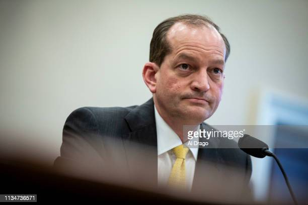 Labor Secretary Alexander Acosta testifies during a House Appropriations Committee hearing on the Labor Budget for Fiscal Year 2020 on Capitol Hill...