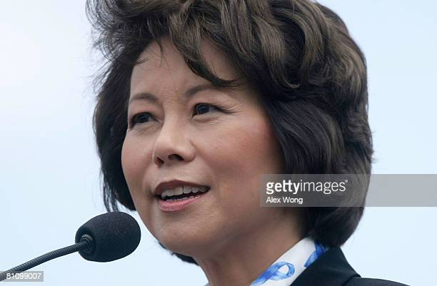 S Labor Secretary Elaine Chao speaks during the 27th Annual National Peace Officers' Memorial Service on Capitol Hill May 15 2008 in Washington DC...