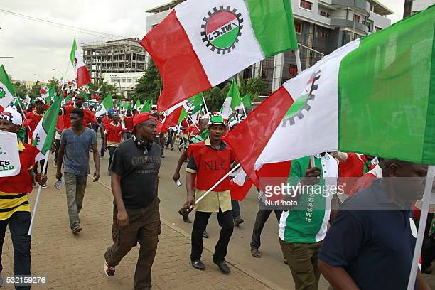 Labor Strike And Rally in Abuja Nigeria on May 18 to protest the decision of the Federal Government to the hike the pump price of petrol from N8650...