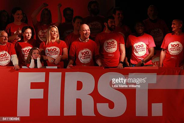 Labor supporters attend the Australian Labor Party 2016 Federal Campaign Launch at the Joan Sutherland Performing Arts Centre on June 19 2016 in...