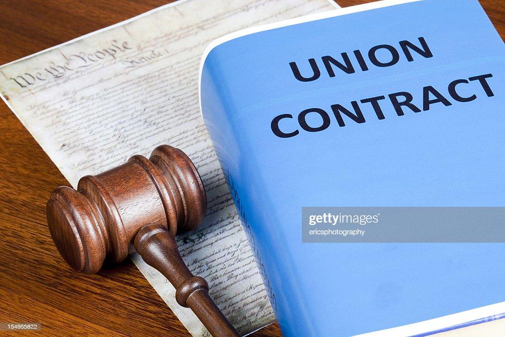 Labor Union contract and Preamble : Stock Photo