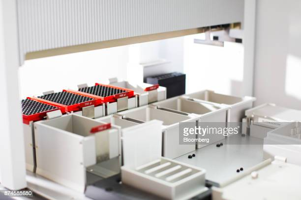 Laboratory equipment sits at the Moderna Therapeutics Inc facility in Cambridge Massachusetts US on Tuesday Nov 14 2017 Moderna this week started...