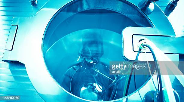 laboratory equipment working for sterilization - fake hospital stock pictures, royalty-free photos & images