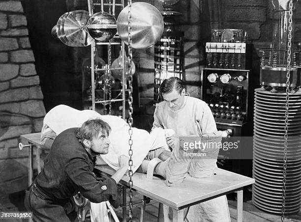 Laboratory scene from Frankenstein starring Boris Karloff as the monster Undated movie still BPA2# 3026